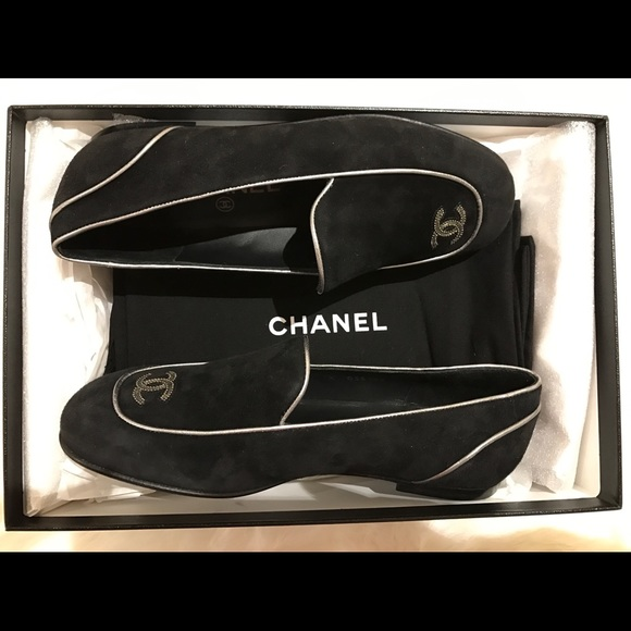 6839f5a954a Chanel suede loafers